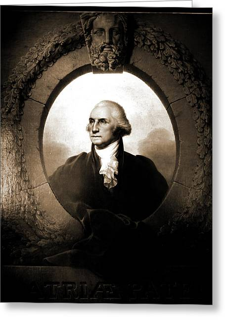 George Washington, Head-and-shoulders Portrait, Peale Greeting Card by Litz Collection