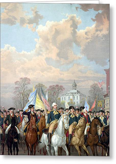 George Washington Riding In Triumph Greeting Card by Unknown