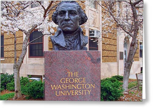 George Washington University Bust 1958 Greeting Card