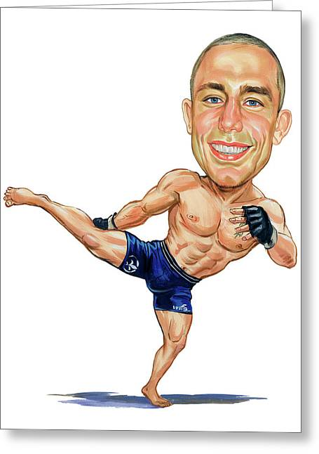 Georges St. Pierre Greeting Card