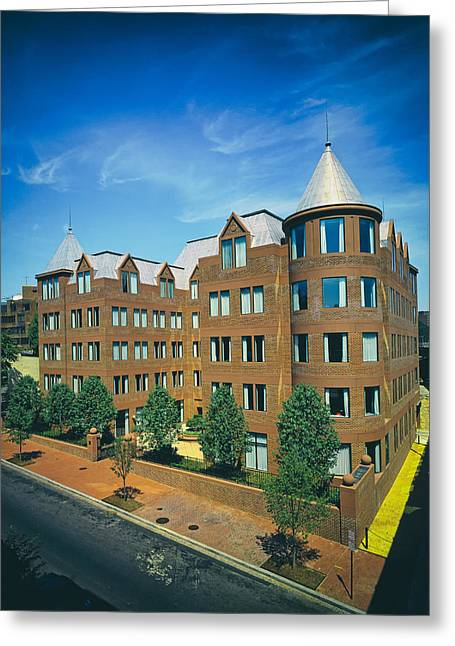Georgetown Apartments - 1980s Greeting Card by Mountain Dreams