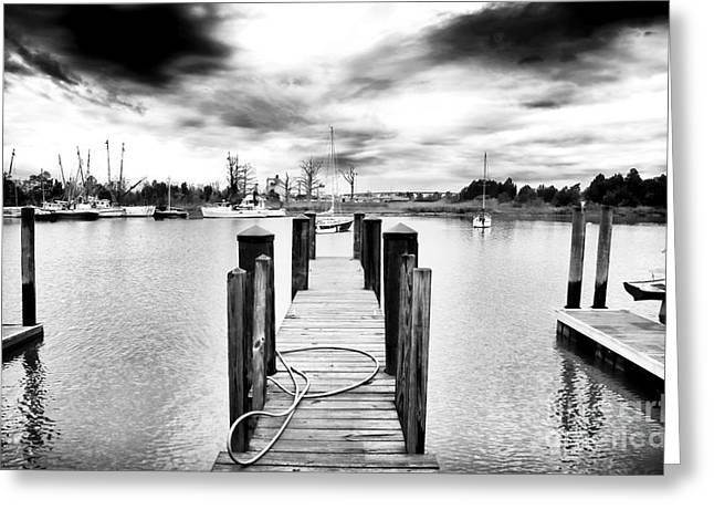 Georgetown Dock Greeting Card by John Rizzuto