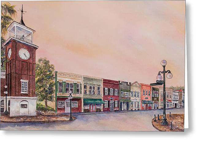 Georgetown Front Street Greeting Card
