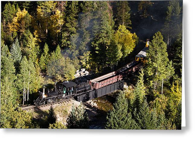 Georgetown Loop Railroad Greeting Card by Adam Pender