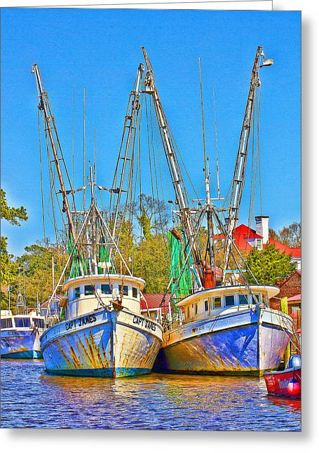 Georgetown Shrimpers Greeting Card by Bill Barber