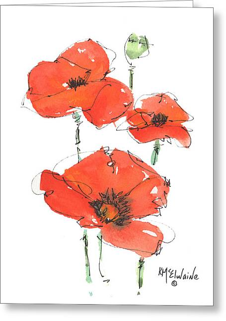 Georgetown Texas The Red Poppy Capital Greeting Card by Kathleen McElwaine