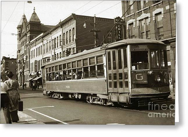 Georgetown Trolley E Market St Wilkes Barre Pa By City Hall Mid 1900s Greeting Card