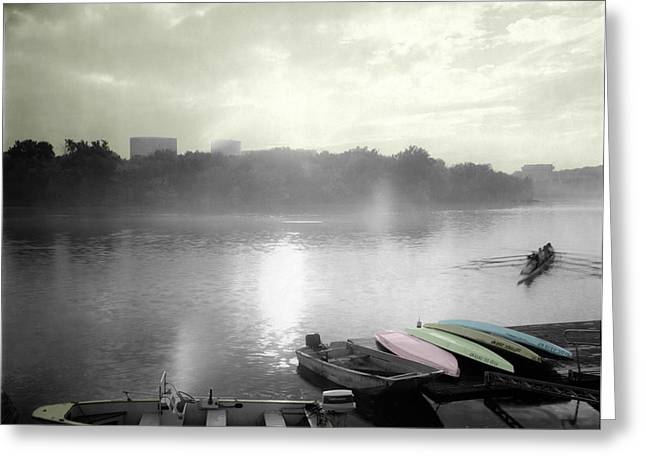Georgetown Waterfront Greeting Card by Jan W Faul