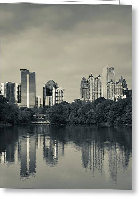Georgia, Atlanta, City Skyline Greeting Card by Walter Bibikow