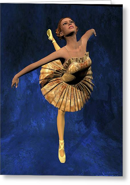 Georgia - Ballerina Portrait Greeting Card by Alfred Price