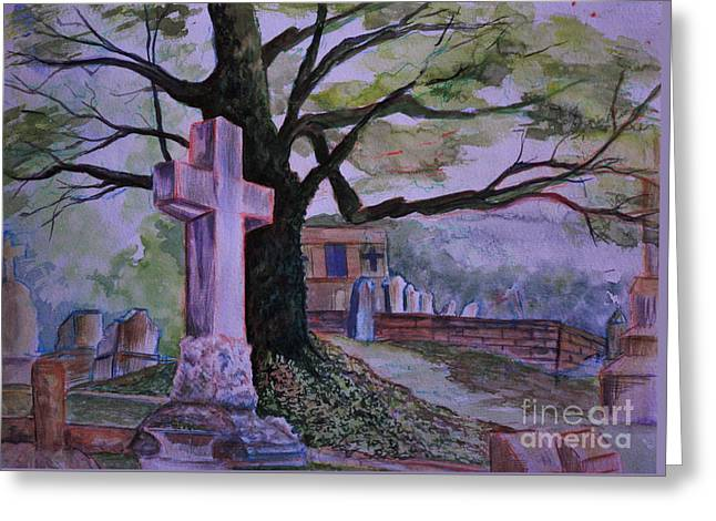 Georgia Graveyard  Greeting Card by Janet Felts