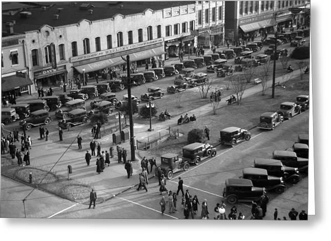 Georgia Main Street, 1936 Greeting Card by Granger