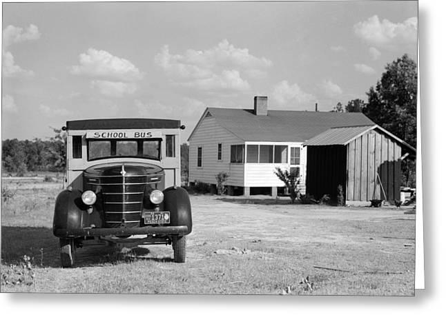 Georgia School Bus, 1941 Greeting Card by Granger