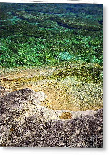 Georgian Bay Abstract I Greeting Card by Elena Elisseeva