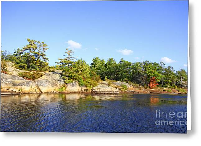 Georgian Bay Island Greeting Card by Charline Xia