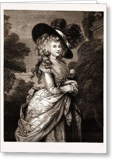 Georgiana, Duchess Of Devonshire The Gainsborough Portrait Greeting Card