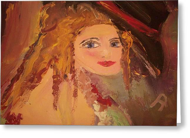 Georgiana Greeting Card by Judith Desrosiers