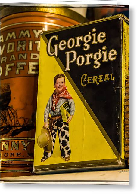 Georgie Porgie Greeting Card