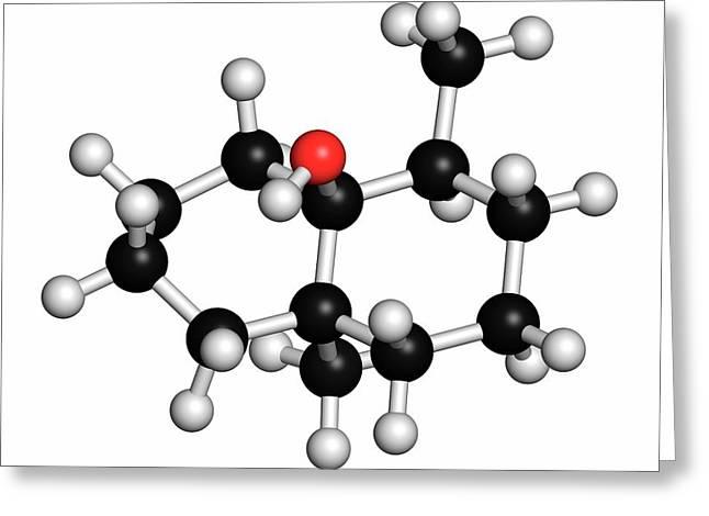 Geosmin Earthy Flavour Molecule Greeting Card by Molekuul/science Photo Library