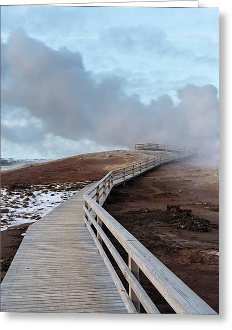 Geothermal Area Gunnuhver On Reykjanes Greeting Card by Martin Zwick