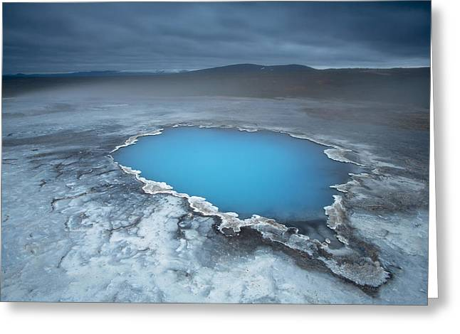 Geothermal Pool Iceland Greeting Card by Mart Smit