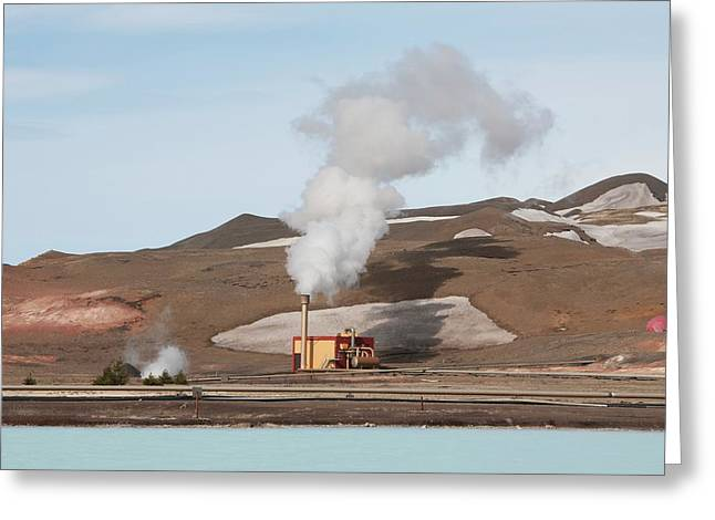 Geothermal Power Station Greeting Card by Dr P. Marazzi