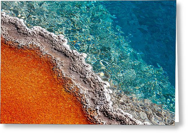 Geothermic Layers Greeting Card