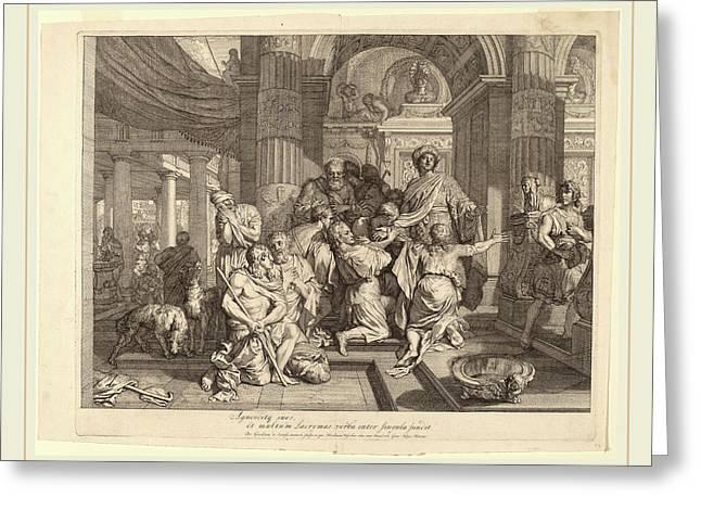 Gerard De Lairesse Dutch, 1641-1711, Joseph Reveals Himself Greeting Card
