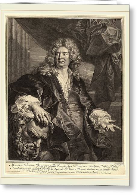 Gerard Edelinck After Hyacinthe Rigaud Flemish Greeting Card by Litz Collection
