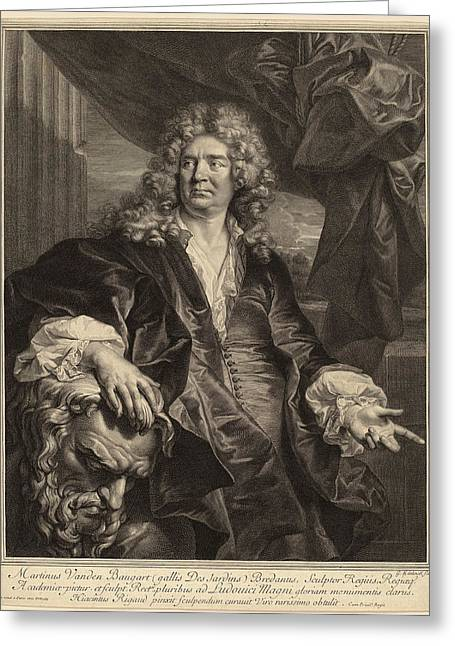 Gerard Edelinck After Hyacinthe Rigaud Flemish Greeting Card by Quint Lox