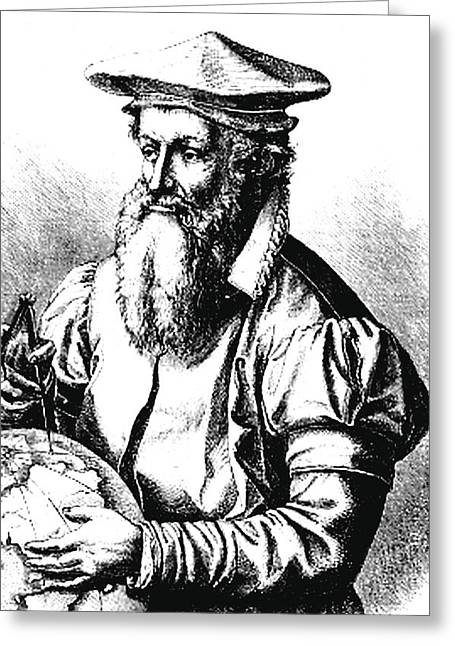 Gerardus Mercator Greeting Card by Collection Abecasis