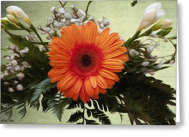 Gerbera Daisy Greeting Card by Jeff Kolker