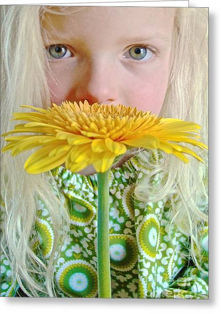 Gerbera Girl Greeting Card