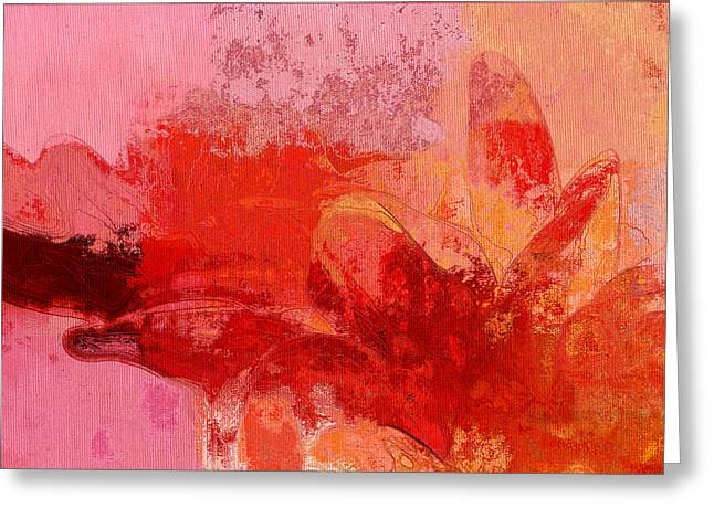 Gerberie - 221at02 Greeting Card by Variance Collections