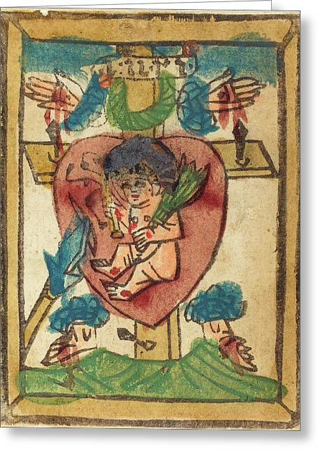 German 15th Century, Christ Child In The Sacred Heart Greeting Card by Quint Lox