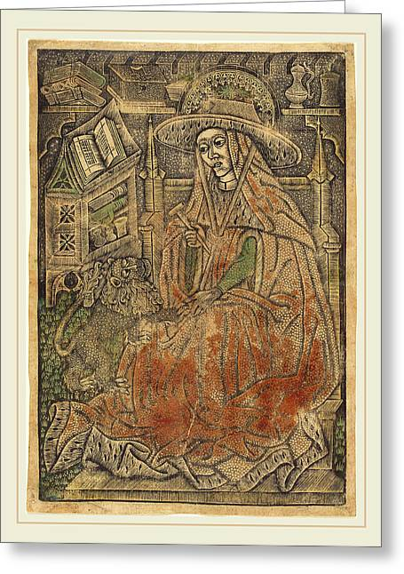 German 15th Century Or Master Of The Aachen Madonna, Saint Greeting Card by Litz Collection