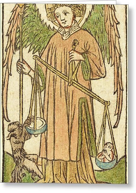German 15th Century, Saint Michael Greeting Card by Quint Lox