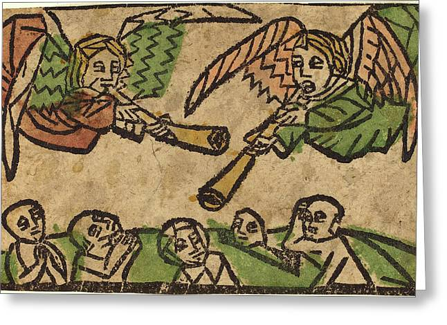 German 15th Century, The Resurrection Of The Dead Greeting Card