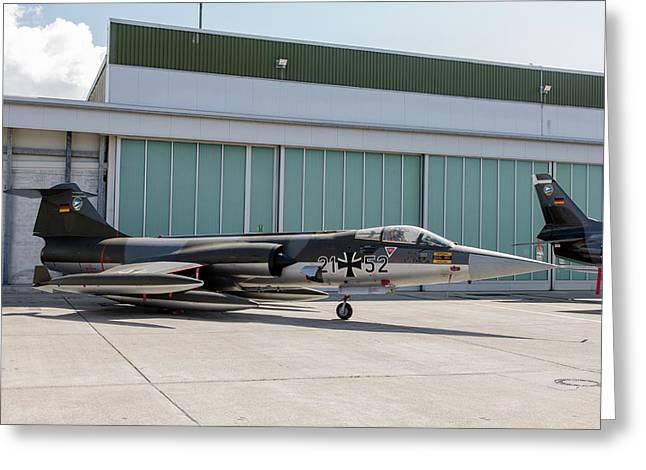 German Air Force F-104g Starfighter Greeting Card by Timm Ziegenthaler