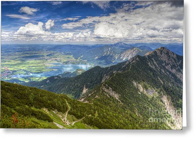 Greeting Card featuring the photograph German Alps View I by Juergen Klust