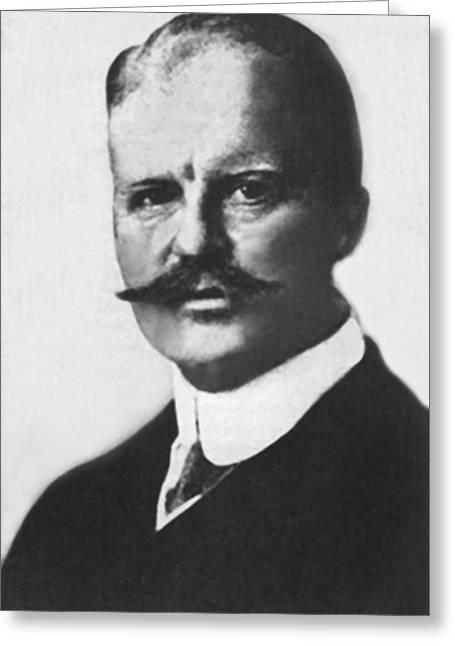 German Arthur Zimmermann Greeting Card by Underwood Archives