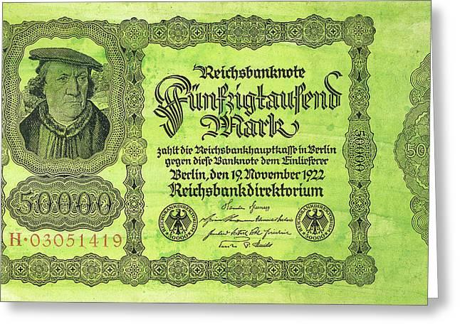 German Banknote, 1922 Greeting Card by Granger