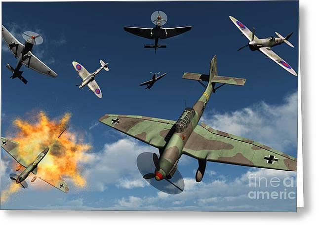 German Ju 87 Stuka Dive Bombers Greeting Card