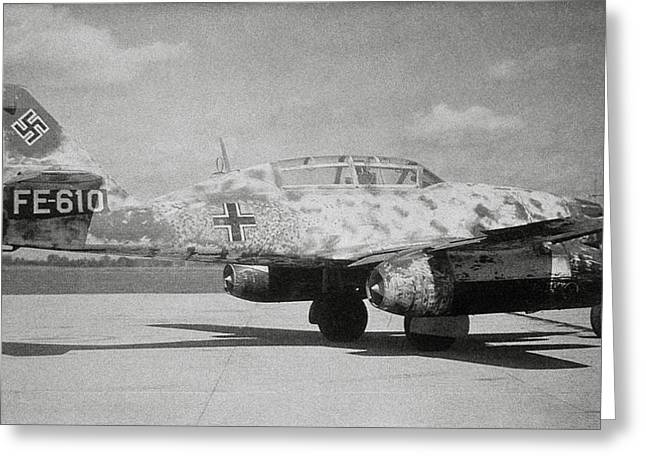 German Me 262 Wwii Jet Fighter Greeting Card by Science Photo Library