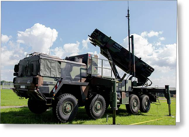 German Patriot Surface-to-air Missile Greeting Card by Timm Ziegenthaler
