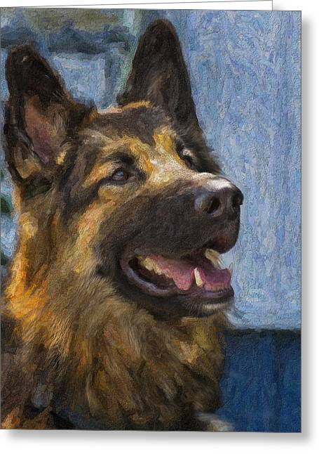 German Shepard Greeting Card