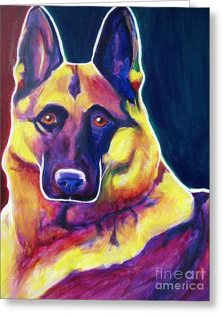 German Shepherd - Burner Greeting Card by Alicia VanNoy Call