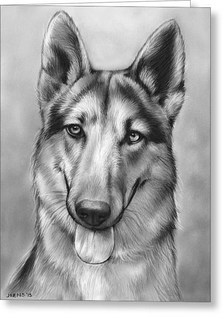 German Shepherd Greeting Card by Greg Joens