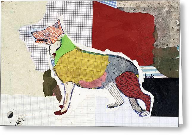 German Shepherd Greeting Card by Michel Keck