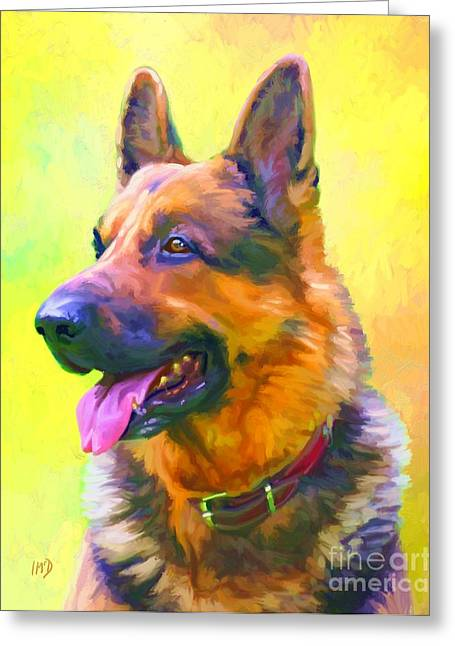 German Shepherd Portrait Greeting Card by Iain McDonald